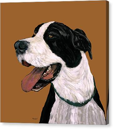 Mantle Great Dane Canvas Print by Dale Moses