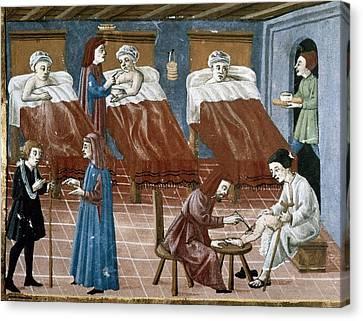 Manuscript Gaddiano Circa 1542. Doctors Canvas Print
