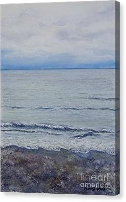 Canvas Print featuring the painting Manx Mist by Stanza Widen