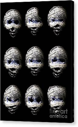 Many Faces Of Identity Fraud Canvas Print