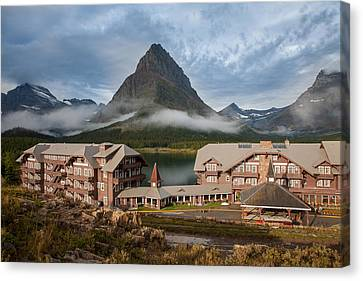 Many Glacier Hotel Canvas Print by Jack Bell