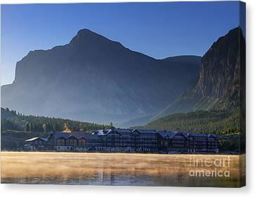 Many Glacier Hotel Canvas Print by Mark Kiver