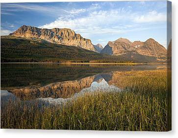 Canvas Print featuring the photograph Many Glacier Reflections by Jack Bell