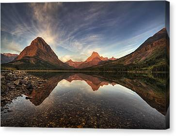 Glacier National Park Canvas Print - Many Glacier Zen by Mark Kiver