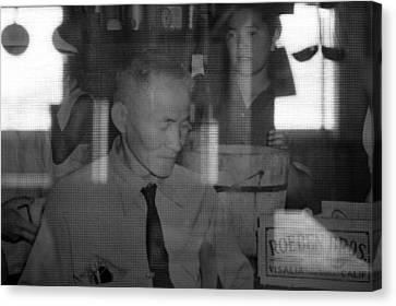 Canvas Print - Manzanar-kitchen Worker  by Harold E McCray