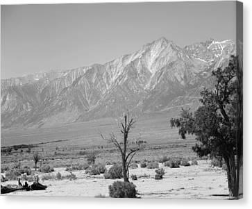 Canvas Print - Manzanar-sierra Nevada Mountains II by Harold E McCray
