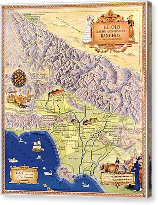 Map Los Angeles, C1937 Canvas Print by Granger