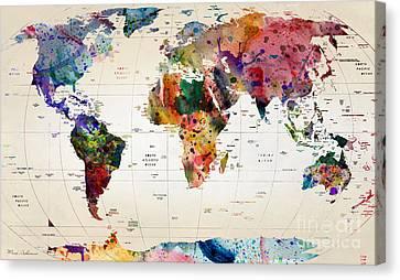 MAP Canvas Print by Mark Ashkenazi