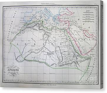 Map Of Africa In Ancient Times Canvas Print by Paul Fearn