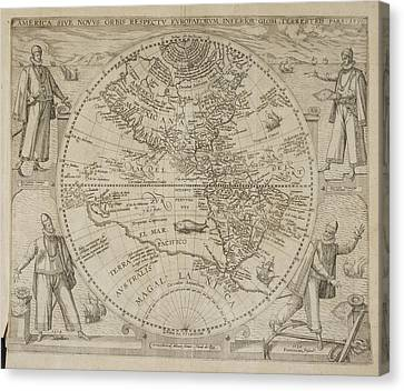 1596 Canvas Print - Map Of America by British Library