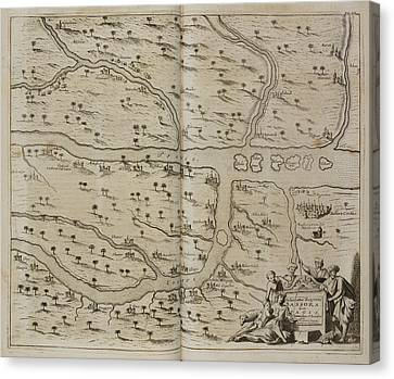 Map Of Basra (al Basrah) In The 17th Cent Canvas Print by British Library