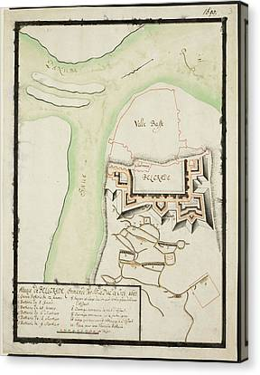 Map Of Belgrade In The Balkans Canvas Print by British Library