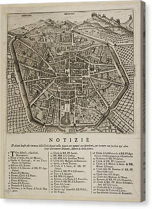 Map Of Bologna Canvas Print by British Library