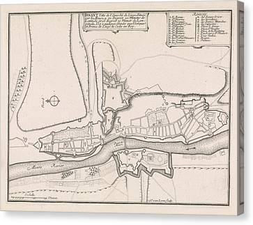 Loon Canvas Print - Map Of Dinant, 1693, 1693 by Quint Lox