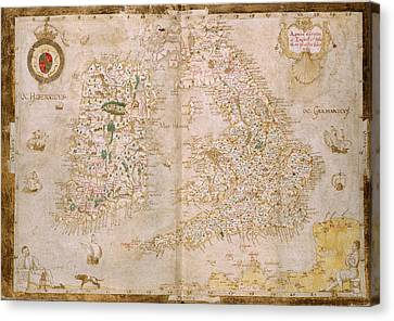 Seacoast Canvas Print - Map Of Great Britain And Ireland by British Library