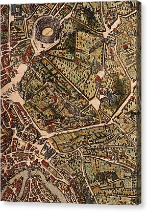 Map Of Rome Canvas Print by Joan Blaeu