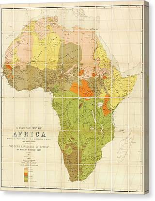 Map Of The Languages Of Africa Canvas Print by Library Of Congress, Geography And Map Division