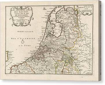 Loon Canvas Print - Map Of The Netherlands, 1701, Harmanus Van Loon by Quint Lox