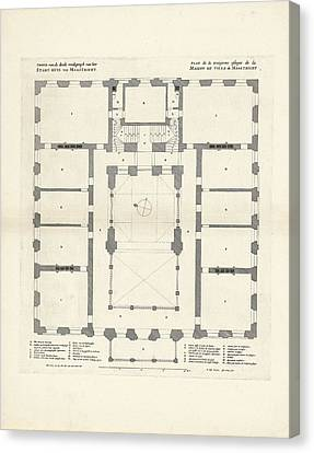 Map Of The Third Floor Of The City Hall Of Maastricht Canvas Print by Quint Lox