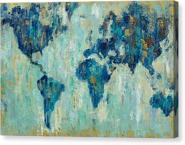 Map Of The World Canvas Print by Silvia Vassileva