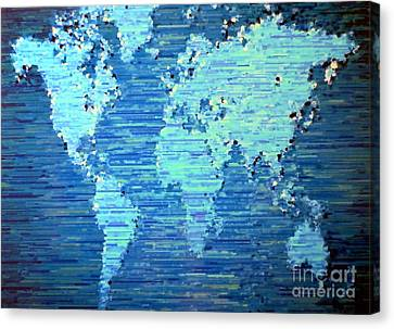 Map Of The World Canvas Print by Susan Waitkuweit