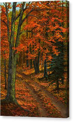 Maple Forest Canvas Print by Frank Wilson