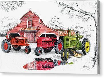 Maple Grove Farms Canvas Print by Larry Johnson