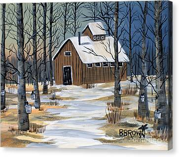Maple Syrup Shack Canvas Print by Brenda Brown