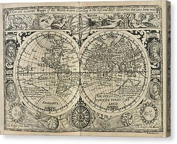 Mappe Of The World Canvas Print
