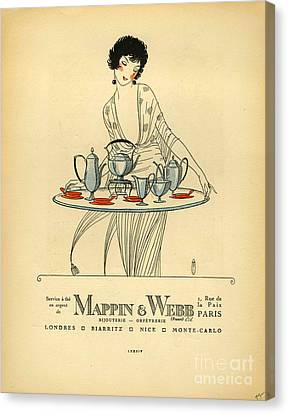 Mappin And Webb  1920s France Cc Tea Canvas Print