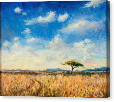 Masai Canvas Print - Mara Landscape by Tilly Willis