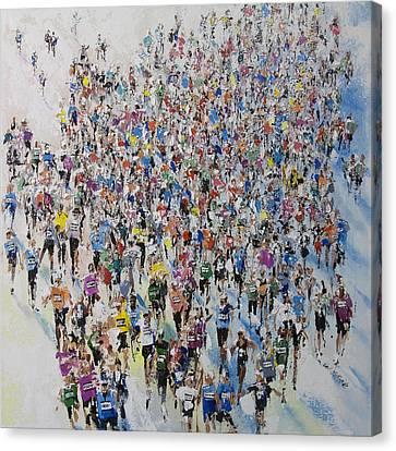 Marathon By Neil Mcbride Canvas Print