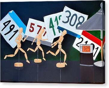 Marathon Man Canvas Print