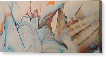 Canvas Print featuring the painting Marble 24 by Mike Breau