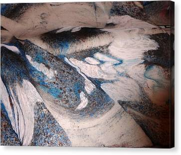 Canvas Print featuring the painting Marble 7 by Mike Breau