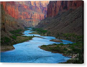 Marble Canyon Rafters Canvas Print by Inge Johnsson