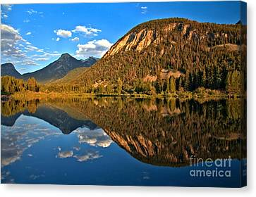 Marble Colorado Fishing Lake Canvas Print by Adam Jewell