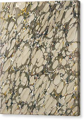 Marble Endpaper Canvas Print by English School