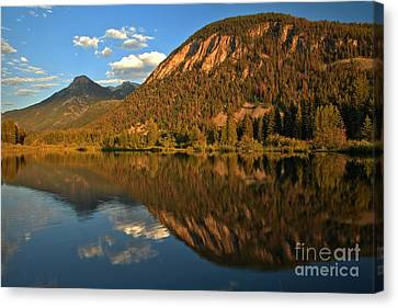 Crystal Colorado Canvas Print - Marble Fishing Lake Reflections by Adam Jewell
