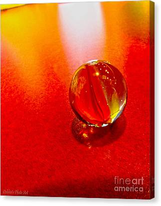Marble Shine Canvas Print by Debbie Portwood