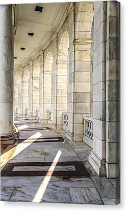 Canvas Print featuring the photograph Marble Sunlight And Silence by Ross Henton