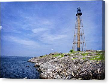 New England Lighthouse Canvas Print - Marblehead Light by Joan Carroll