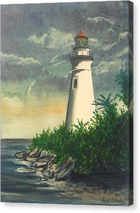 Marblehead Light On Lake Erie Canvas Print by Frank Hunter