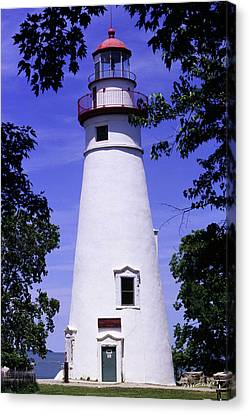 Canvas Print featuring the photograph Marblehead Light by Terri Harper