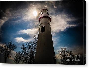 Marblehead Lighthouse Canvas Print by Lori England Zornes