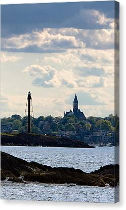 Marblehead Points Canvas Print by Jeff Folger