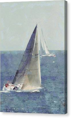 Marblehead To Halifax Ocean Race Canvas Print by Jeff Folger