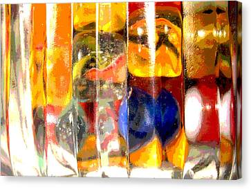 Canvas Print featuring the photograph Marbles In A Glass Bowl by Mary Bedy