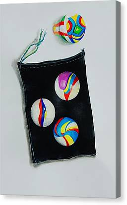 Marbles Canvas Print by Jean Cormier