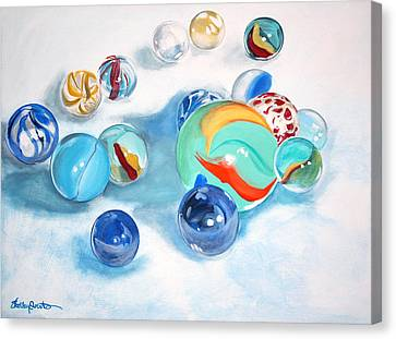 Marbles Canvas Print by Shelley Overton
